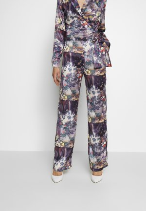 FLORAL TROUSERS - Pantalones - purple