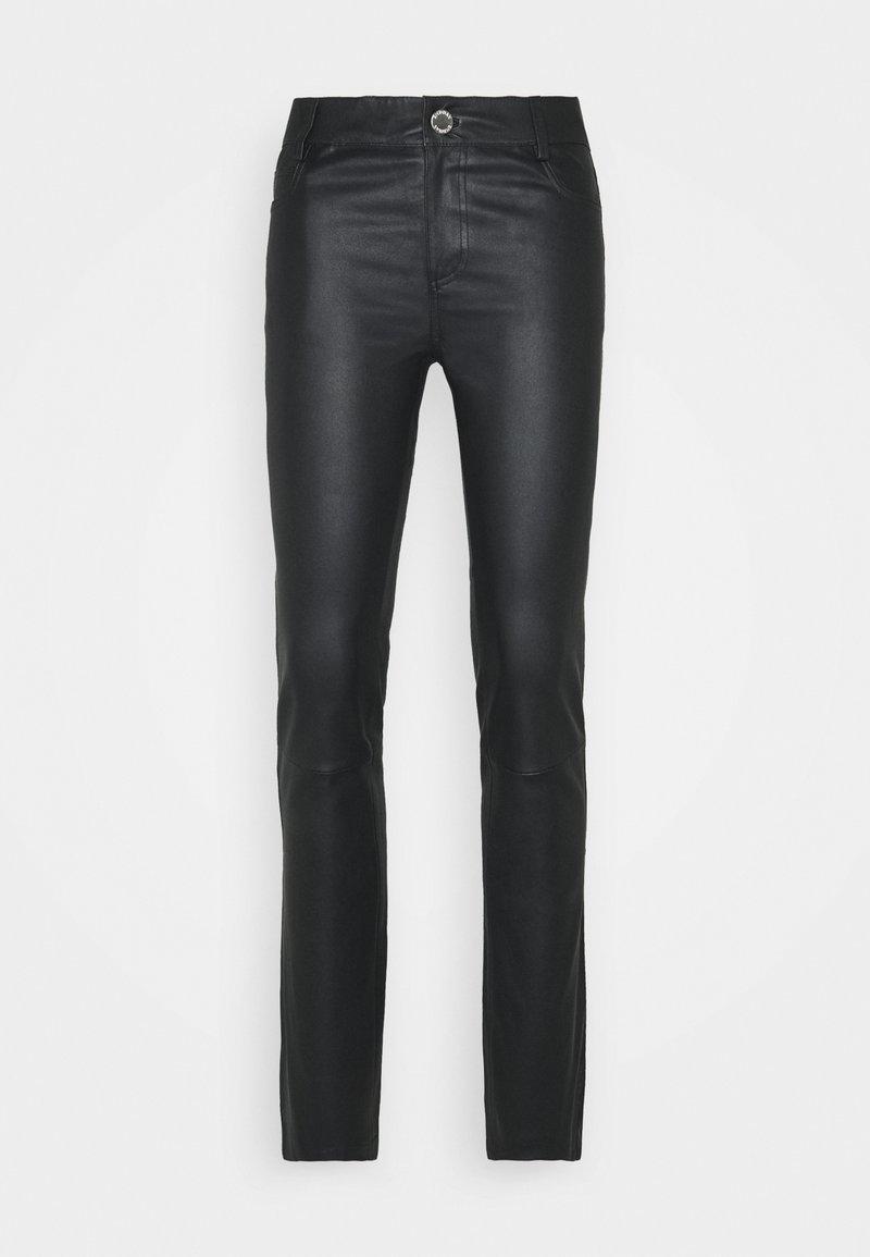 2nd Day - RUBY - Kožené kalhoty - black