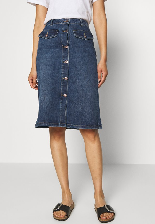 KAEARLENA SKIRT - Spódnica trapezowa - blue denim
