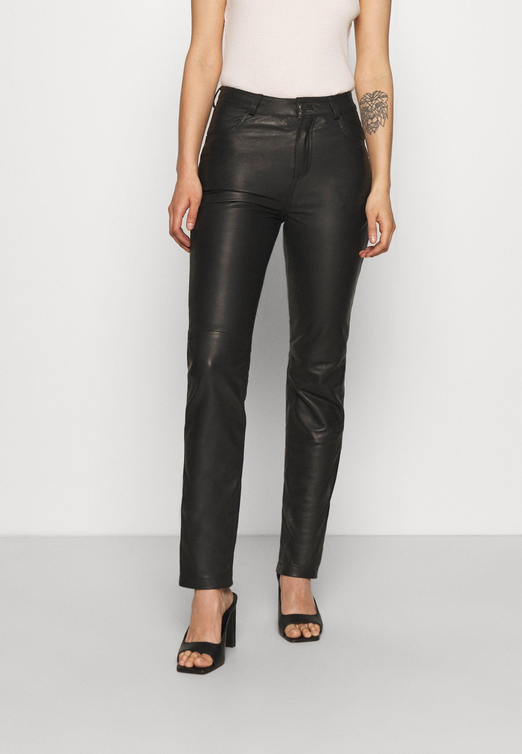 Women PHOENIX PANTS - Leather skirt