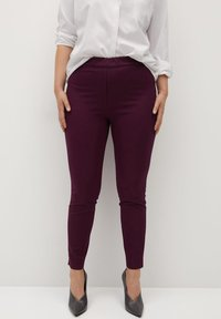 Violeta by Mango - Leggings - Trousers - weinrot - 0