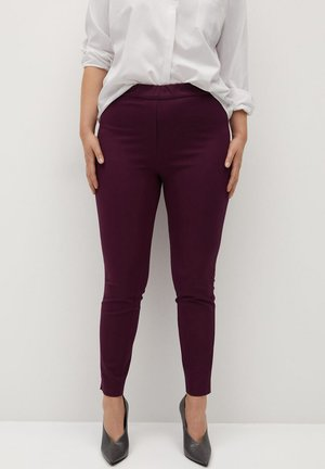 Leggings - Trousers - weinrot