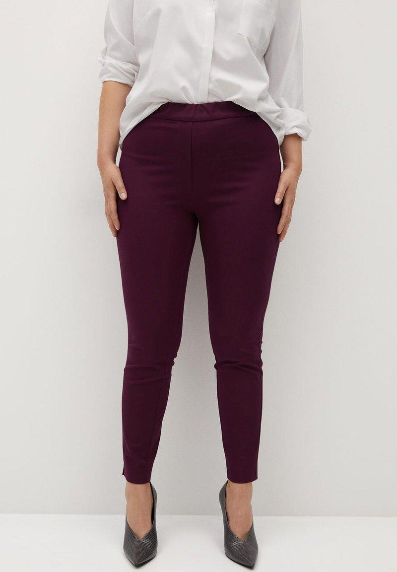 Violeta by Mango - Leggings - Trousers - weinrot