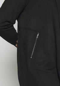 CAPSULE by Simply Be - LONGLINE WATERFALL JACKET WITH PANEL SLEEVE - Short coat - black - 5