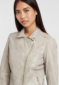 Gipsy - Leather jacket - grau grey - 3