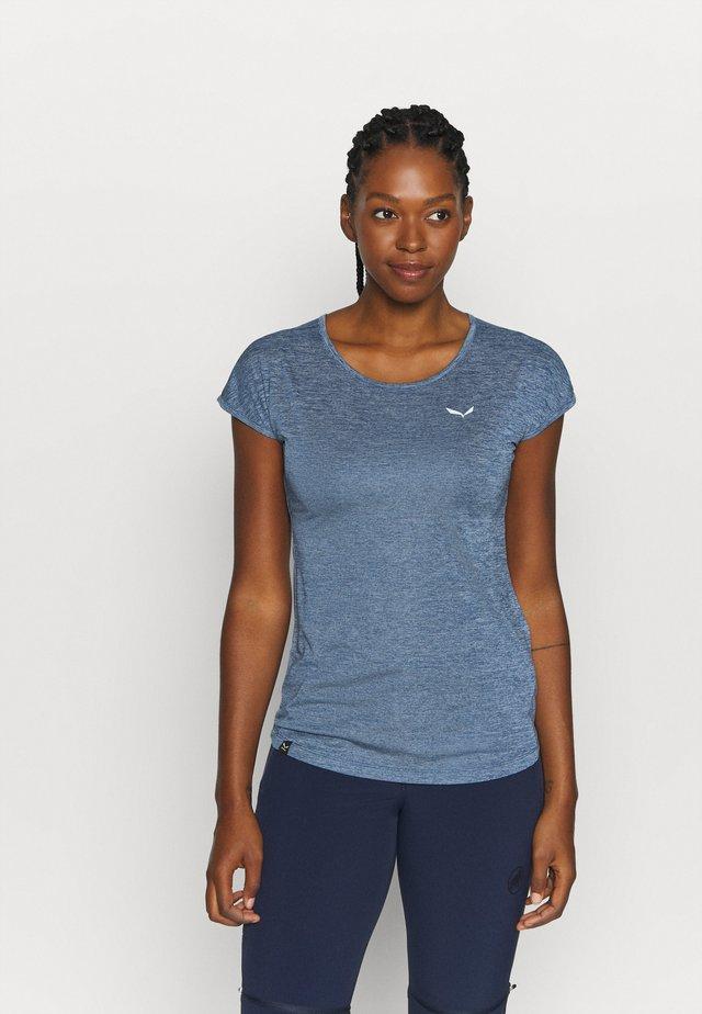 PUEZ DRY TEE - T-Shirt basic - poseidon melange
