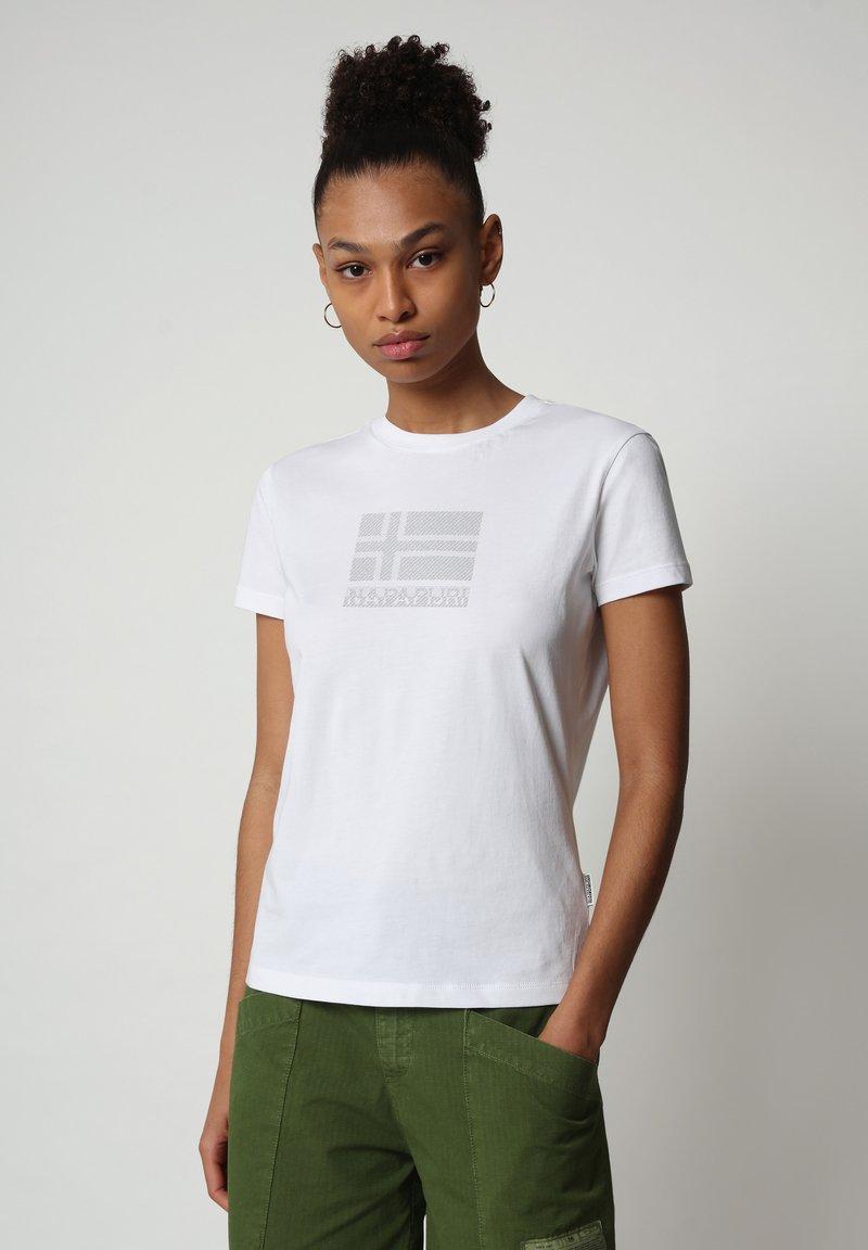 Napapijri - SEOLL - Print T-shirt - bright white