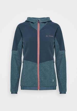 WOMENS YARAS HOODED JACKET - Fleece jacket - blue gray