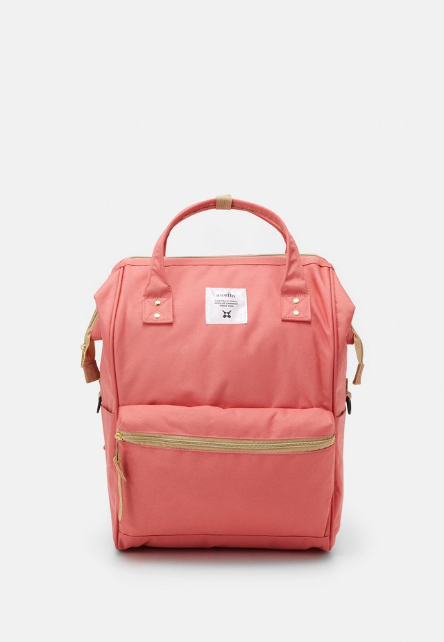 BACKPACK COLOR BLOCK LARGE UNISEX - Reppu - coral pink