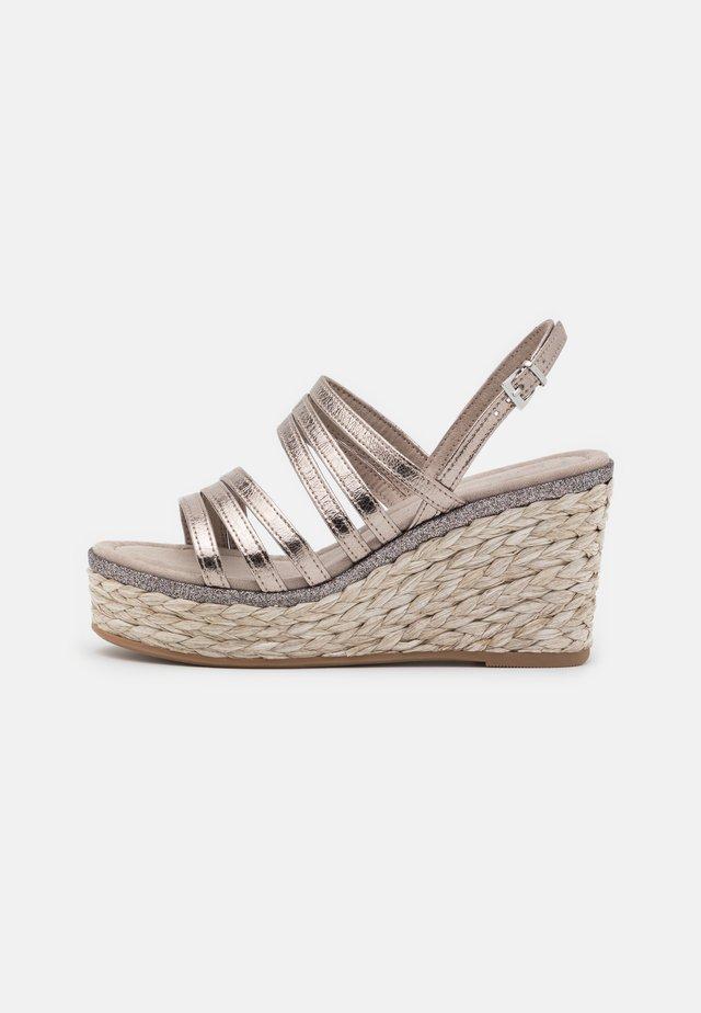 Højhælede sandaletter / Højhælede sandaler - pewter