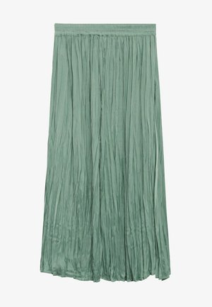 PALMER - Pleated skirt - aquamarijn