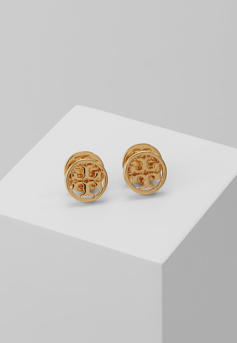 Tory Burch - LOGO CIRCLE EARRING - Earrings - gold-coloured