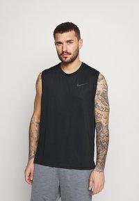 Nike Performance - DRY TANK - Linne - black/dark grey - 0