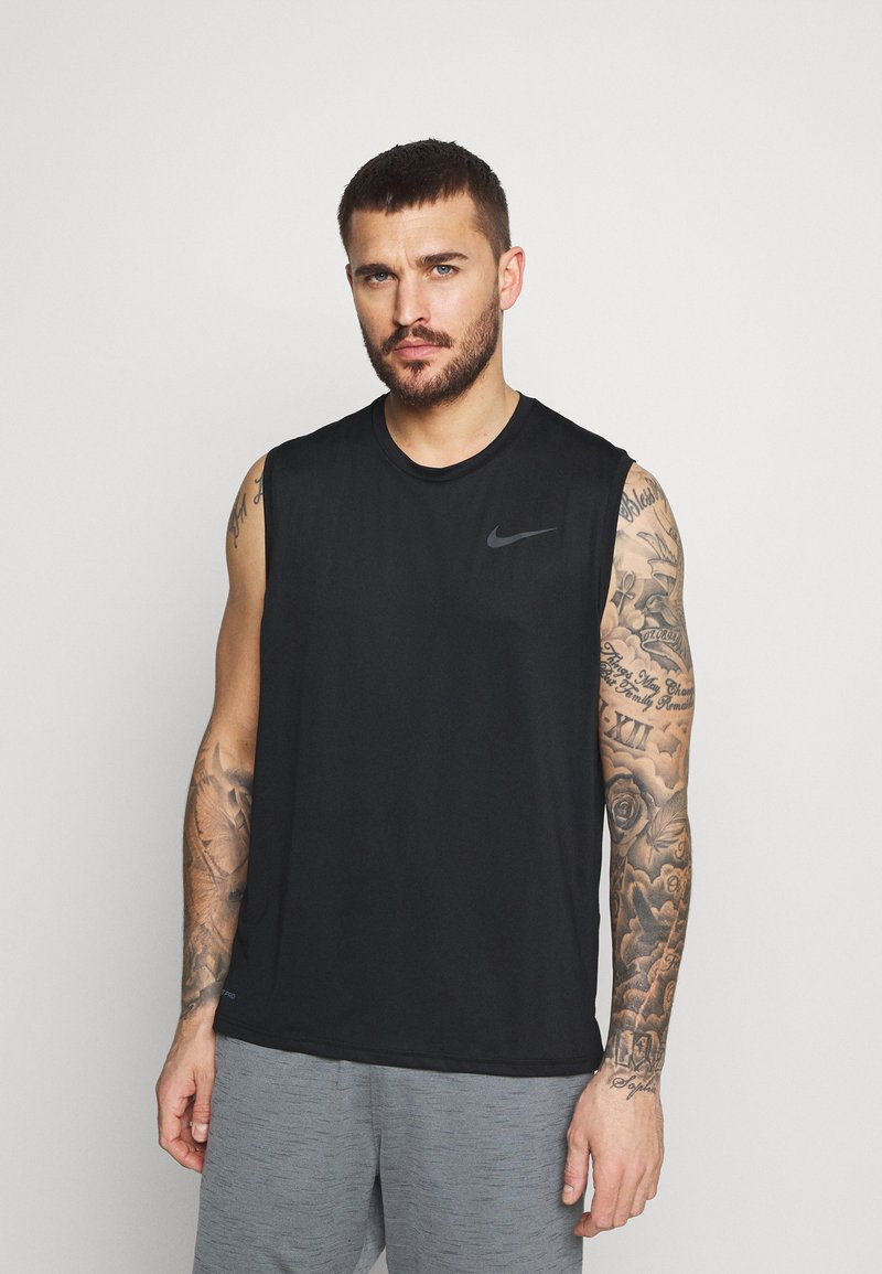 Nike Performance - DRY TANK - Linne - black/dark grey