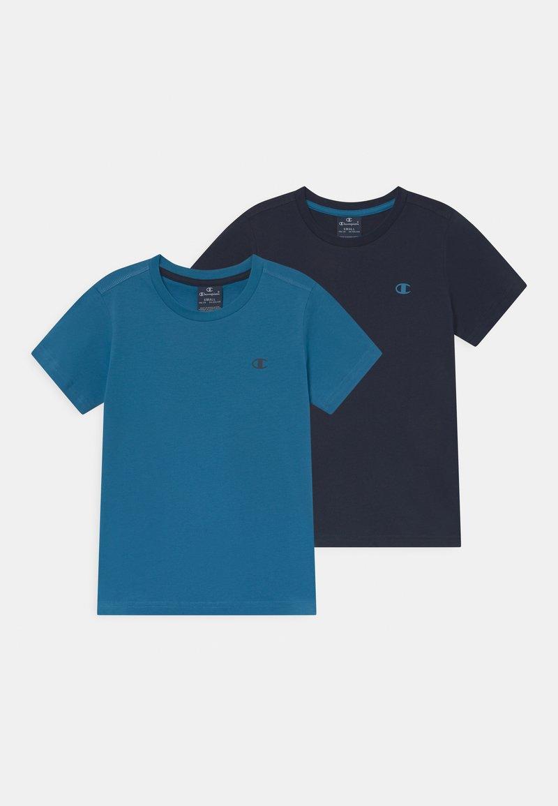 Champion - BASICS TEE 2 PACK UNISEX - Jednoduché triko - blue