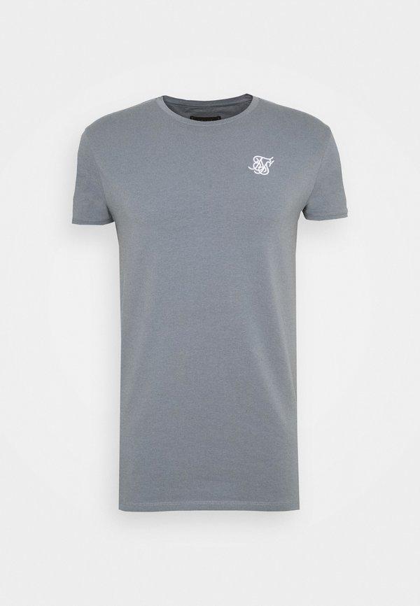 SIKSILK GYM TEE - T-shirt basic - blue slate/niebieski Odzież Męska ZZIA