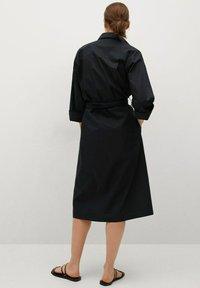 Mango - Vestido camisero - noir - 1