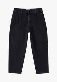 PULL&BEAR - MIT BUNDFALTEN - Jeans Relaxed Fit - black - 5