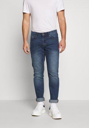 MID BLUE SLIM STRAIGHT DENIM - Straight leg jeans - lonestar