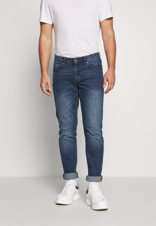 MID BLUE SLIM STRAIGHT DENIM - Straight leg jeans - lonestar
