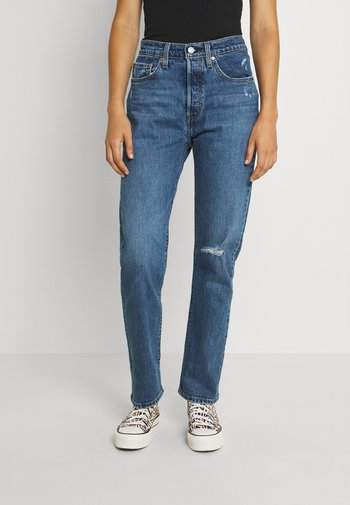 501 CROP - Straight leg jeans - salsa middle