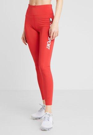 HIGHWAIST LEGGING LOGO - Leggings - red