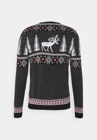 Pier One - WINTERY CHRISTMAS JUMPER  - Stickad tröja - black - 1