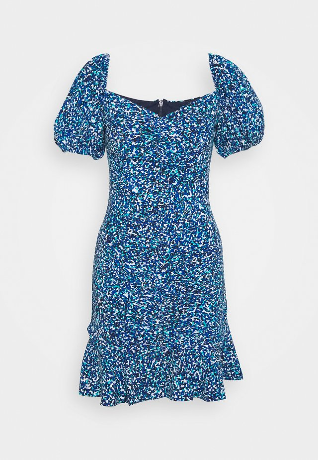 PRINTED DRESS - Vestido informal - blue
