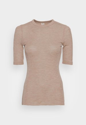 Basic T-shirt - oat melange