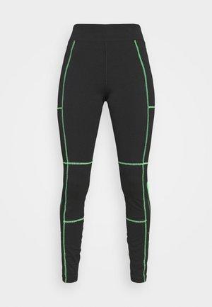 Leggings - Trousers - black/poison green