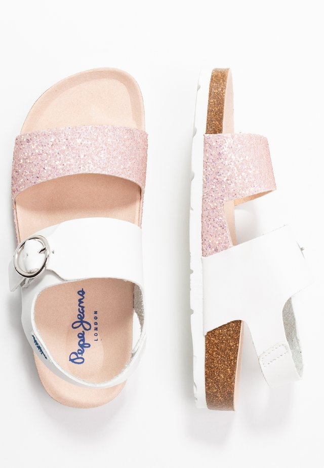 BUCKLE - Sandals - white