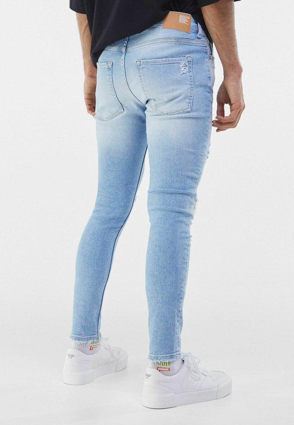 Bershka Jeansy Skinny Fit - blue denim/niebieski denim Odzież Męska LRAZ