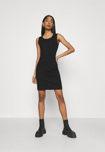 D-HEVA - Jersey dress - black