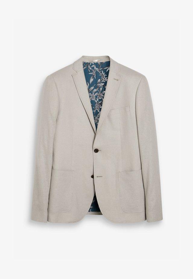 SLIM FIT  - Blazer jacket - mottled beige