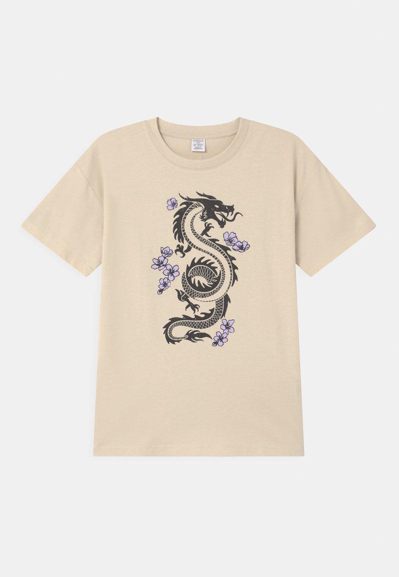 Lindex - RIO - Print T-shirt - beige