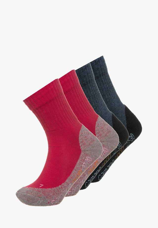 4 PACK - Socks - red/navy