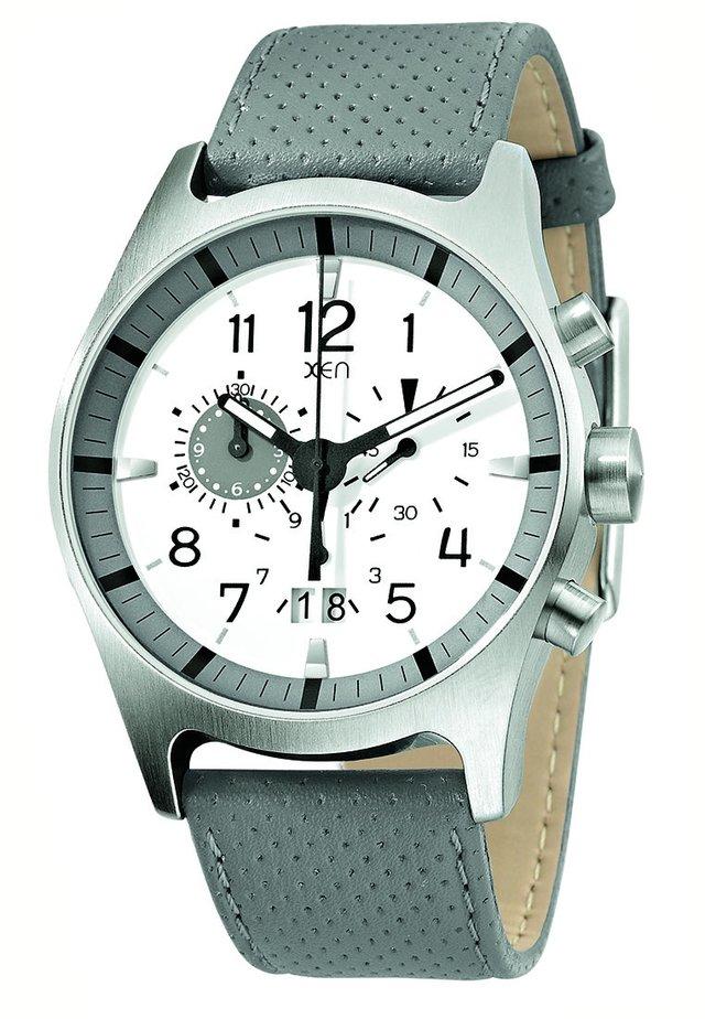 Chronograaf - grau/weiß