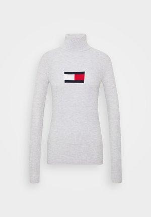 FLAG ROLL NECK - Svetr - silver grey