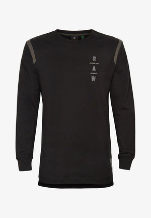 TAPE LOGO LASH - Long sleeved top - dk black