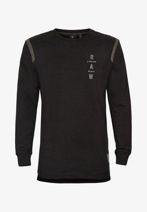 TAPE LOGO LASH - T-shirt à manches longues - dk black
