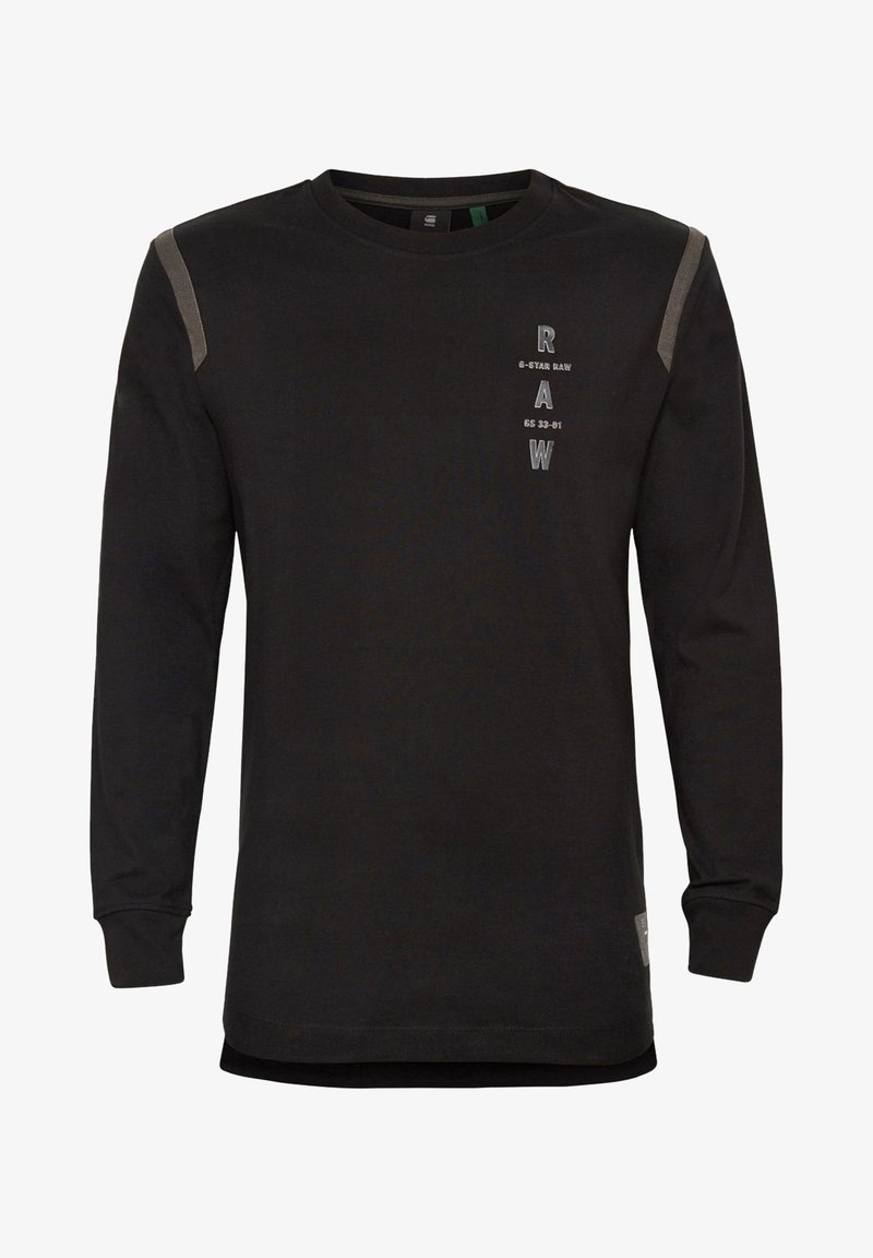 G-Star - TAPE LOGO LASH - Long sleeved top - dk black