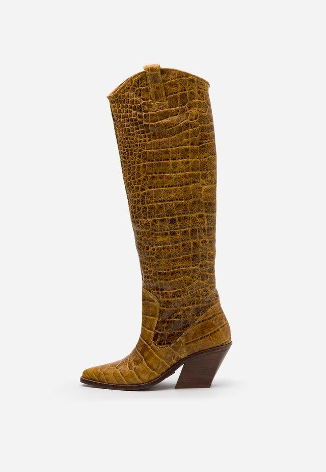 KOLE - Cowboy/Biker boots - mustard