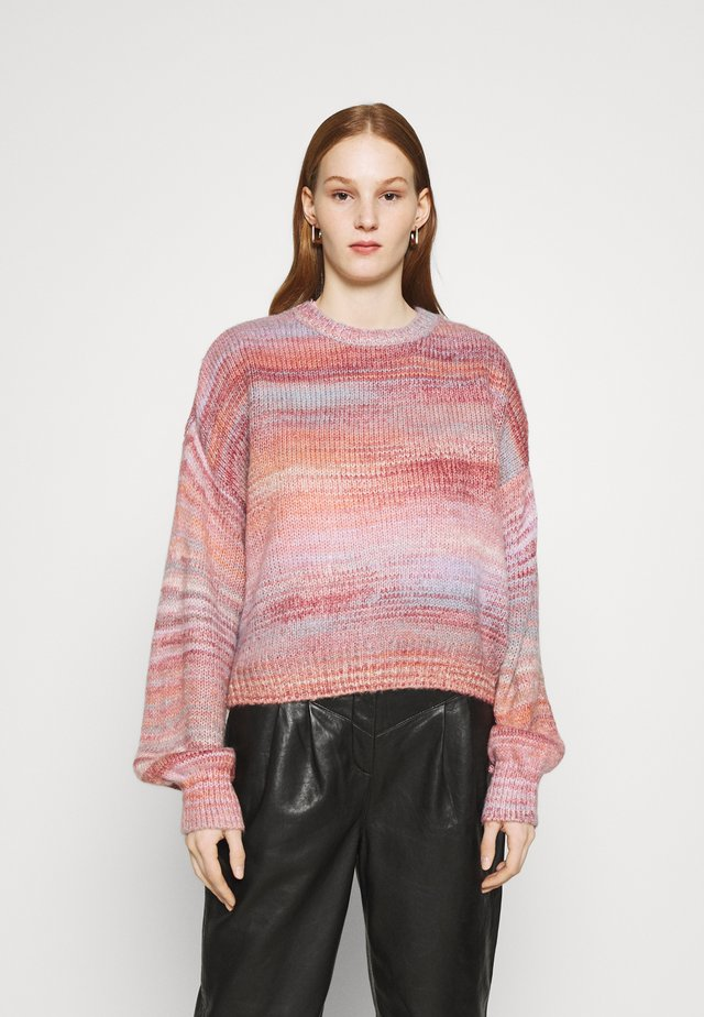 BIG SKY CREW SWEATER - Stickad tröja - pink spacedye