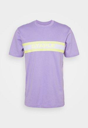TAPE LOGO UNISEX - Print T-shirt - lilac