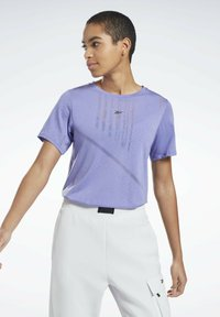 Reebok - ONE SERIES SPEEDWICK REECYCLED - Print T-shirt - purple - 0