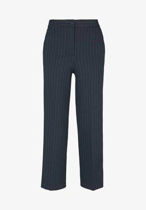 Trousers - navy pin stripe