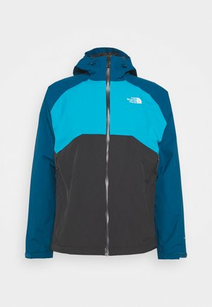 MENS STRATOS JACKET - Hardshell-jakke - anthracite/teal/blue