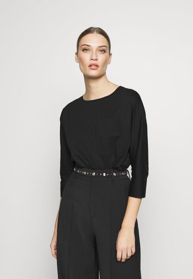 KAORI - T-shirt à manches longues - black