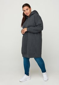 Zizzi - Jersey dress - dark grey - 0