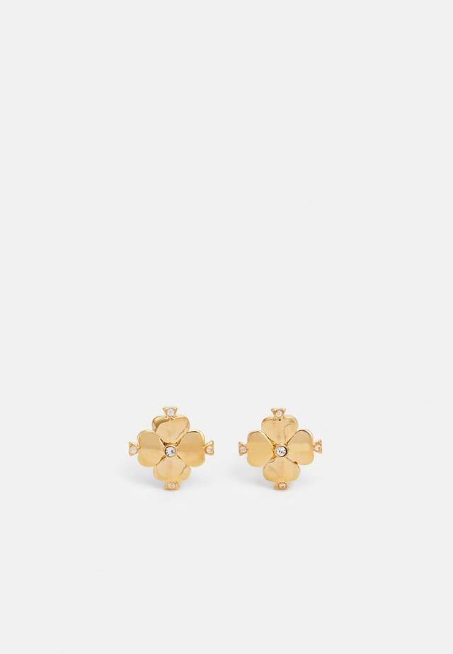 LEGACY LOGO FLOWER STUDS - Örhänge - clear/gold-coloured